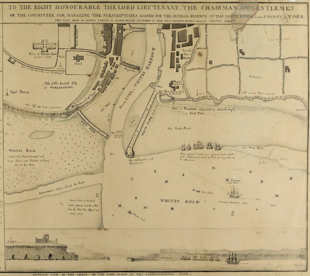 Plan of the defences of Whitby by Francis Gibson, 1794