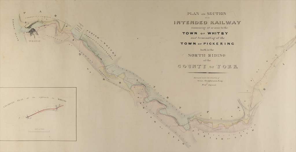 Plan showing Whitby to Pickering Railway, 1832