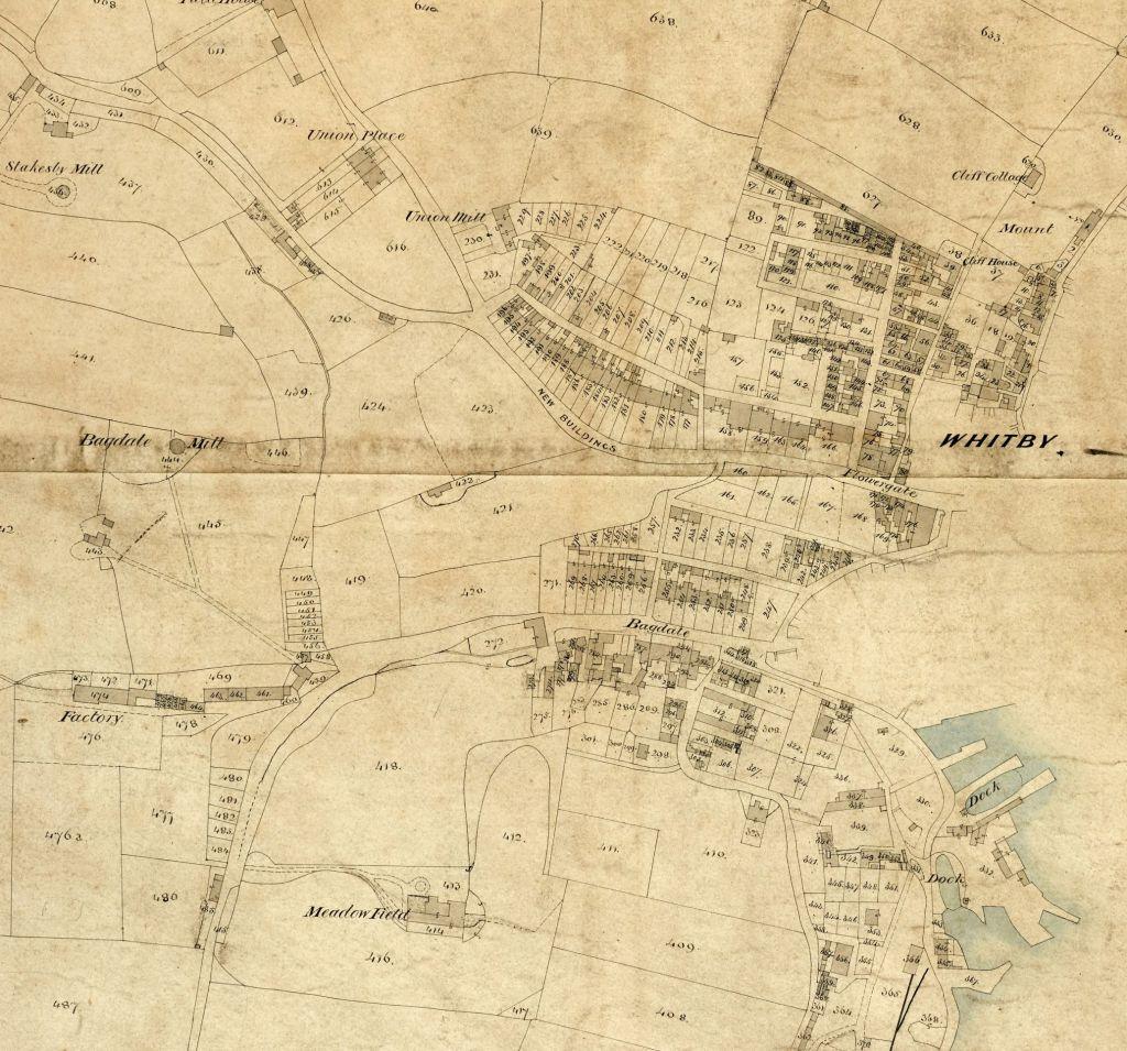 Ruswarp tithe map, 1844