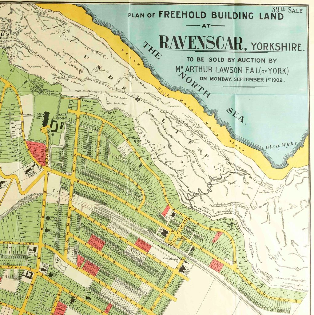 Plan of Freehold Building Land at Ravenscar, Yorkshire to be sold by auction on 1st September 1902