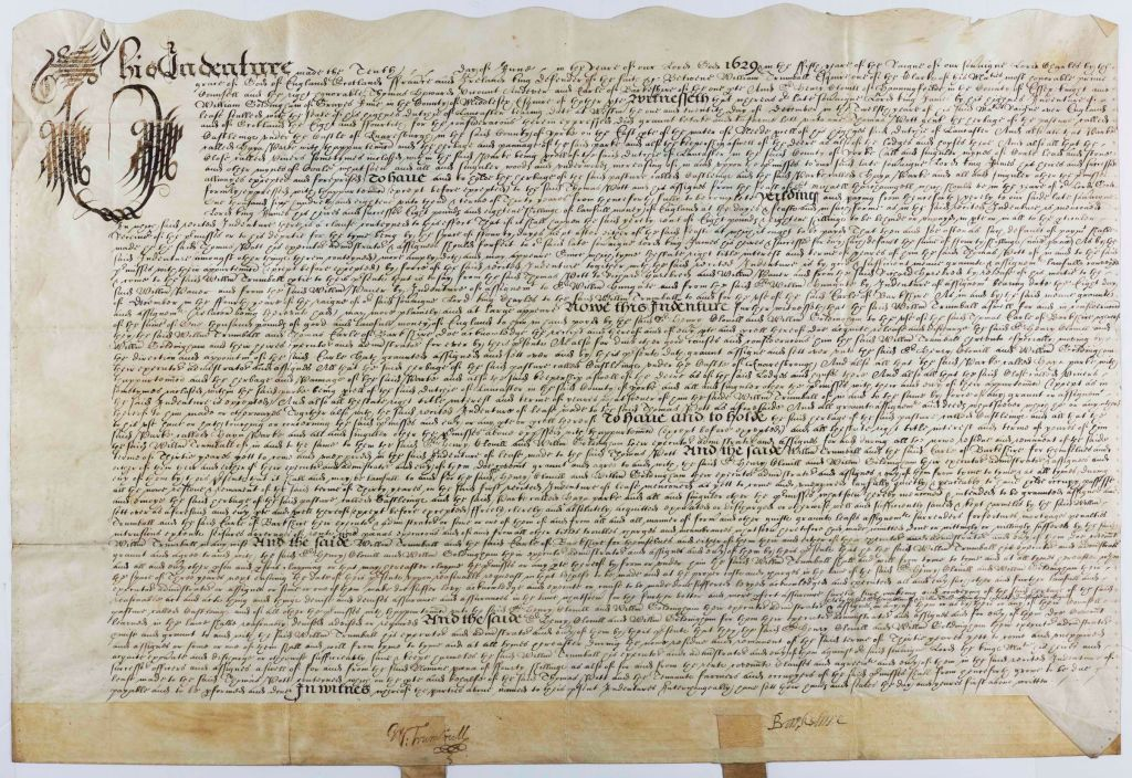 A deed from 1629