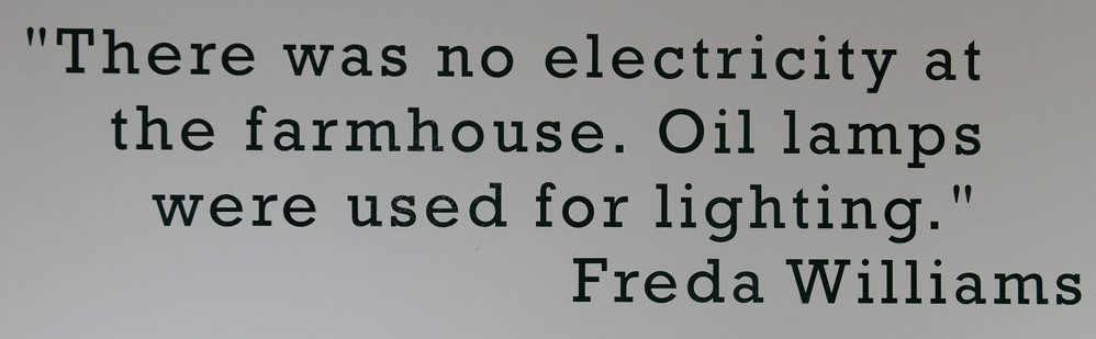 Quote from land girl, Freda Williams, featured in the Women's Land Army exhibition at the Yorkshire Museum of Farming.